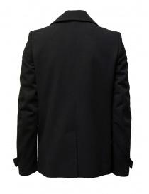 Deepti caban classico nero a doppio petto cappotti uomo acquista online