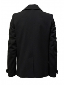 Deepti classic black double-breasted caban mens coats buy online