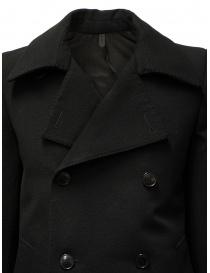 Deepti caban classico nero a doppio petto cappotti uomo prezzo