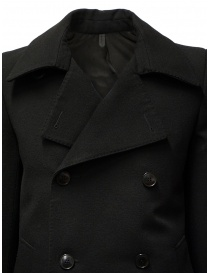 Deepti classic black double-breasted caban mens coats price