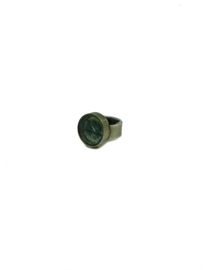 Anello in argento con vetro rotto incastonato AR-061 SILVER 925 preziosi online shopping