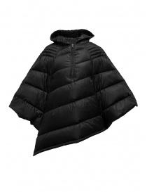 Yasmin Naqvi black cape down jacket YNKD26 NERO order online