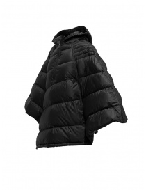 Yasmin Naqvi black cape down jacket