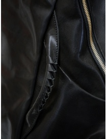 Cornelian Taurus black leather backpack with front handles bags price