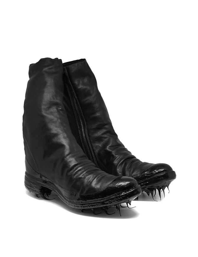 Carol Christian Poell black boots with dripped sole AM/2528R ROOMS-PTC/010 mens shoes online shopping