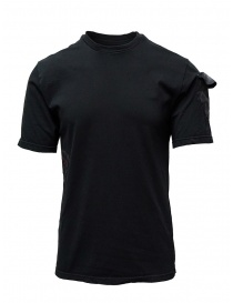 Mens t shirts online: D.D.P. black T-shirt with hand-painted details
