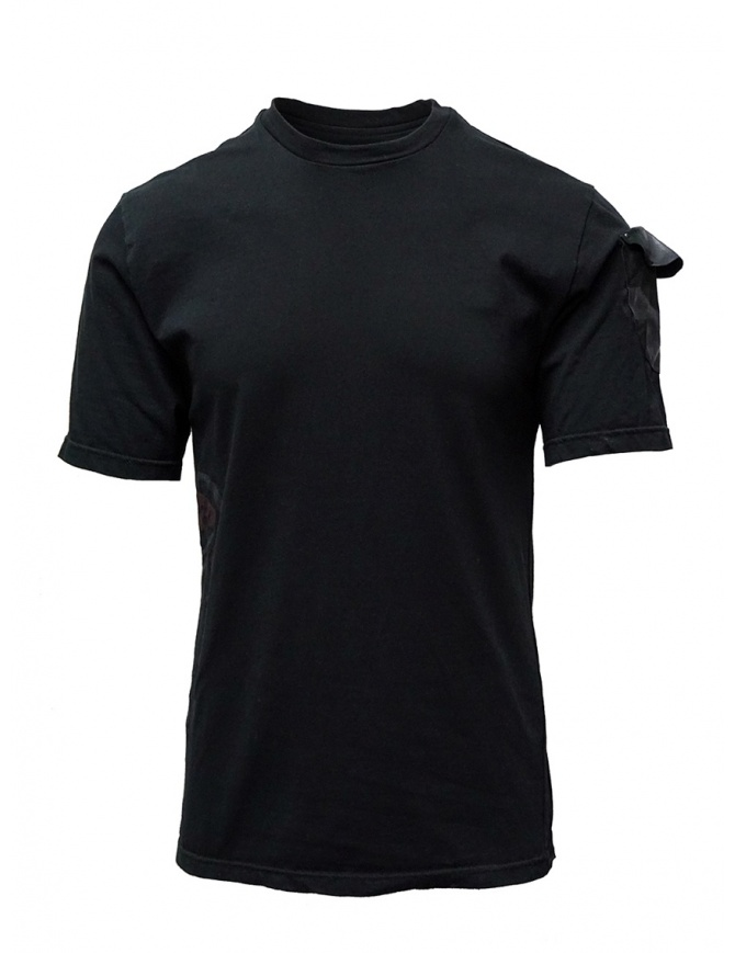 D.D.P. black T-shirt with hand-painted details DDP T-S mens t shirts online shopping