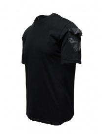 D.D.P. T-shirt nera con dettagli dipinti a mano t shirt uomo acquista online