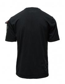 D.D.P. T-shirt nera con dettagli dipinti a mano t shirt uomo prezzo