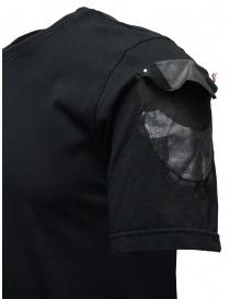 D.D.P. T-shirt nera con dettagli dipinti a mano