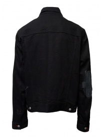 D.D.P. black denim jacket with red buttonholes for man mens jackets buy online