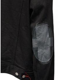 D.D.P. giubbino in jeans nero con asole rosse da uomo acquista online prezzo