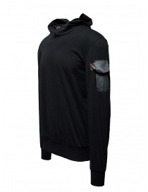 D.D.P. black hooded sweatshirt with shoulder pocket