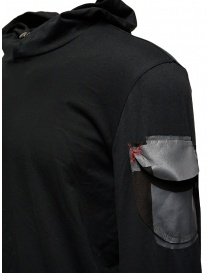 D.D.P. black hooded sweatshirt with shoulder pocket mens knitwear buy online