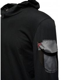 D.D.P. felpa nera con cappuccio e tasca sulla spalla maglieria uomo acquista online