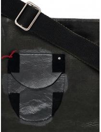 D.D.P. cartella in cuoio nera con taschino