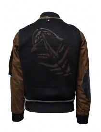 D.D.P. tobacco-colored bomber jacket with black mesh vest
