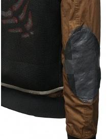 D.D.P. bomber color tabacco con gilet a rete nero acquista online prezzo