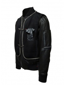 D.D.P. leather bomber with black mesh vest price