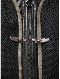 D.D.P. bomber in pelle con gilet a rete nero giubbini uomo prezzo