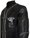 D.D.P. leather bomber with black mesh vest price MBJ001 BOMBER PELLE UOMO shop online