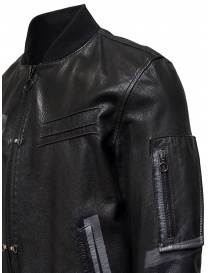 D.D.P. leather bomber with black mesh vest buy online price