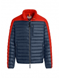 Mens jackets online: Parajumpers Bredford blue and orange down jacket