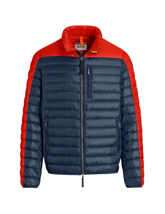 Parajumpers Bredford blue and orange down jacket PMJCKSX13 BREDFORD ORANGE mens jackets online shopping