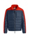 Parajumpers Bredford blue and orange down jacket buy online PMJCKSX13 BREDFORD ORANGE
