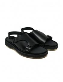 Calzature uomo online: Adieu sandalo Type 140 nero in pelle