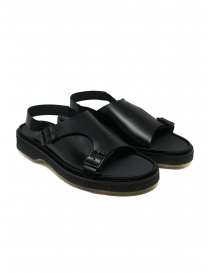 Mens shoes online: Adieu Type 140 black leather sandal