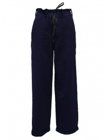 Casey Vidalenc blue wool wide trousers online