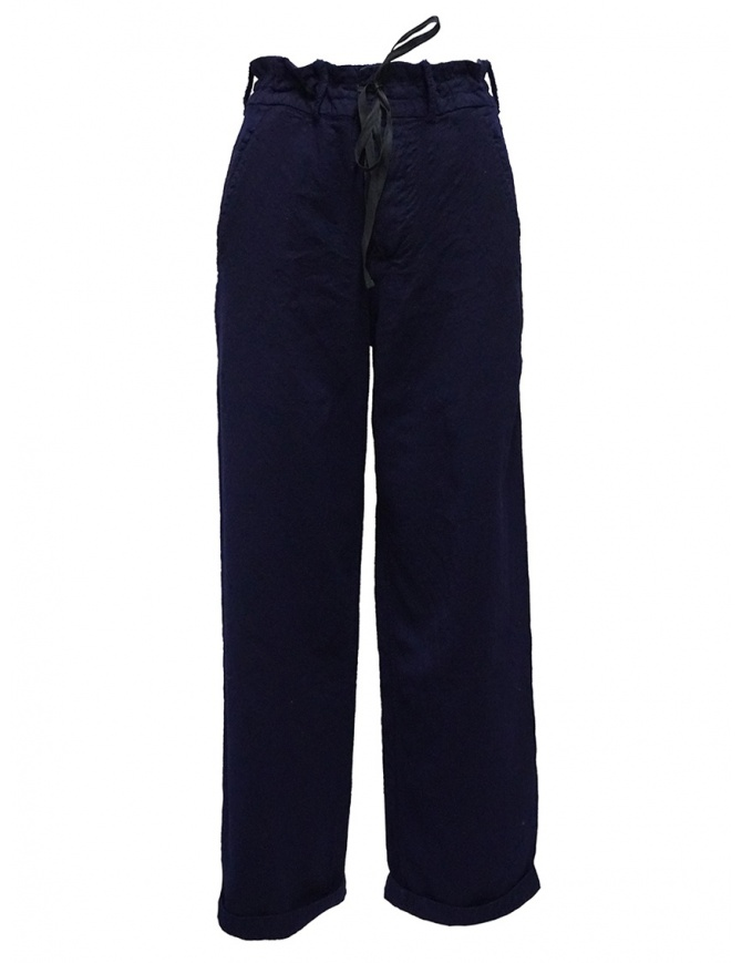 Casey Vidalenc blue wool wide trousers FP191 BLUE womens trousers online shopping
