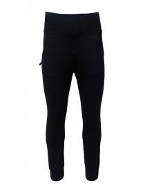 D.D.P. pantalone sportivo a vita alta nero online
