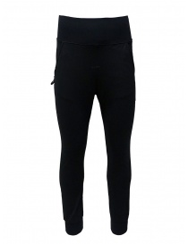 D.D.P. sporty pants in black viscose UP001 PANTALONE UNISEX VISCOSA