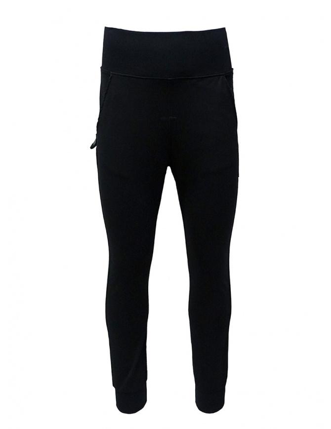 D.D.P. pantalone sportivo a vita alta nero UP001 PANTALONE UNISEX VISCOSA pantaloni uomo online shopping