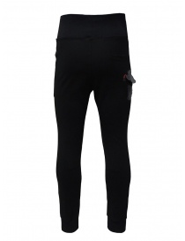 D.D.P. sporty pants in black viscose mens trousers buy online