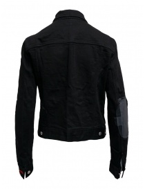 D.D.P. black denim jacket with red buttonholesse for woman price