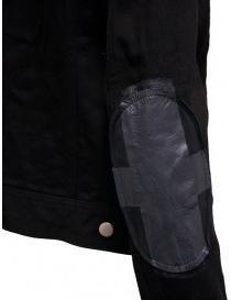 D.D.P. giubbino in jeans nero con asole rosse da donna giubbini donna prezzo