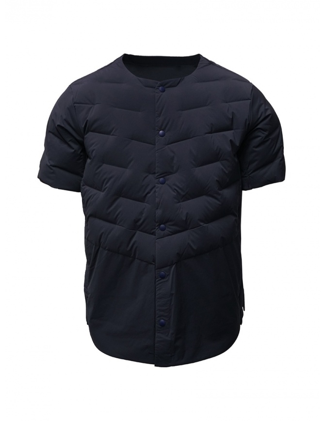 Descente blue short-sleeve padded jacket DAMOGC50 NVGR