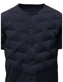 Descente blue short-sleeve padded jacket price