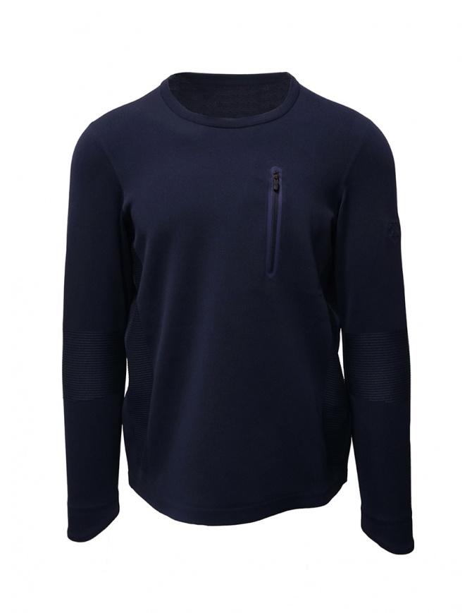 Descente Fusionknit Capsule blue sweatshirt DAMOGA04 NVGR mens knitwear online shopping