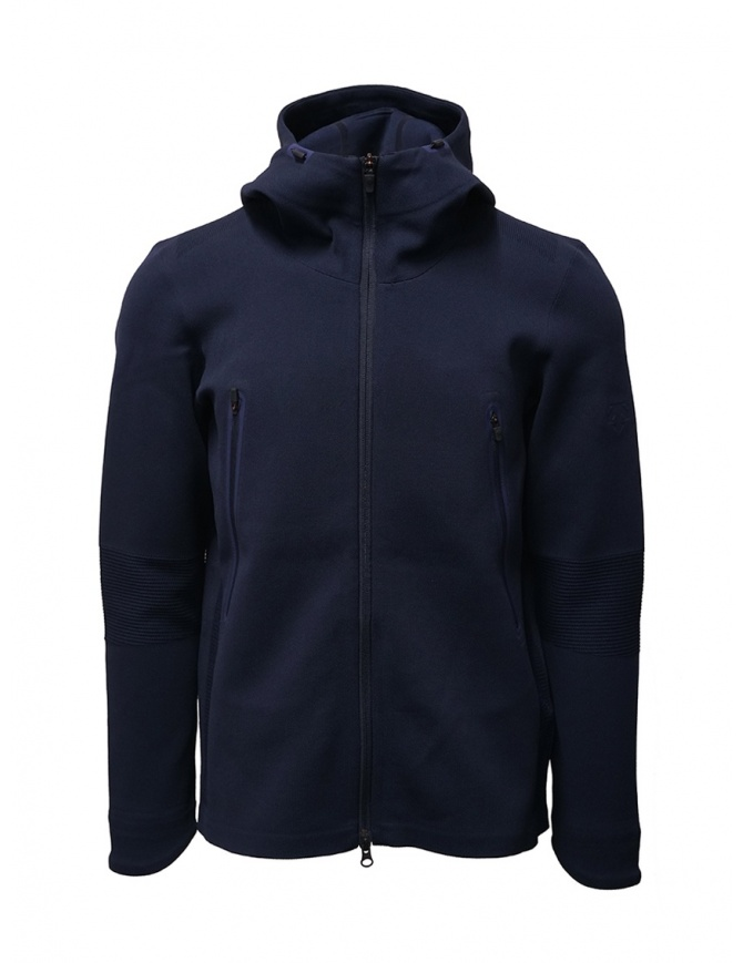 Descente Fusionknit Circuit blue hoodie sweatshirt DAMOGL02 NVGR mens knitwear online shopping