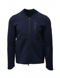Mens knitwear online: Descente Fusionknit Chrono track jacket blue