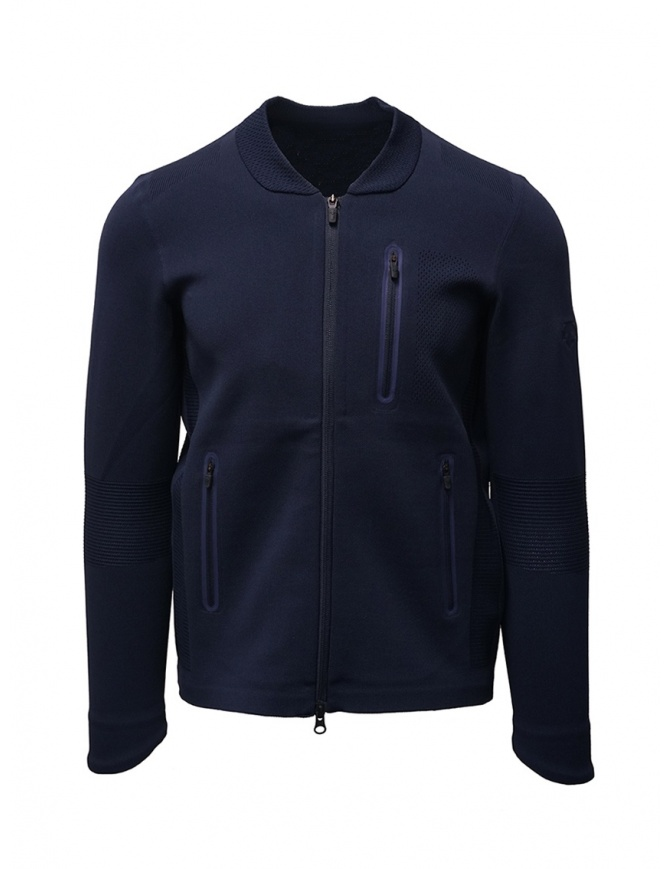 Descente Fusionknit Chrono giacca sportiva blu DAMOGL03 NVGR maglieria uomo online shopping
