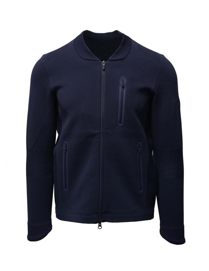 Descente Fusionknit Chrono track jacket blue DAMOGL03 NVGR mens knitwear online shopping