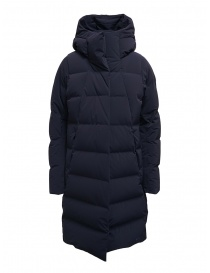 Womens coats online: Descente Mizusawa long down jacket blue