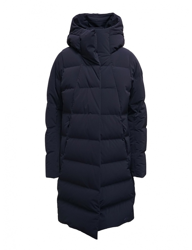 Descente Mizusawa long down jacket blue DAWOGK44U NVGR womens coats online shopping