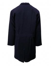 Camo blue padded wool coat buy online