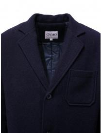 Cappotto Camo in lana imbottito blu prezzo